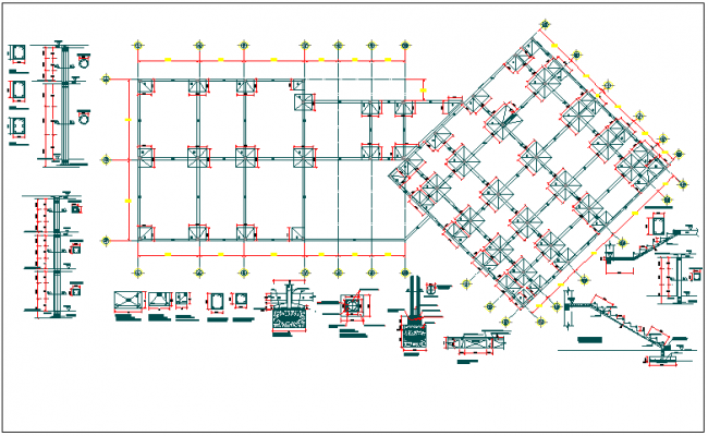 Structure detail view and section plan view detail dwg file