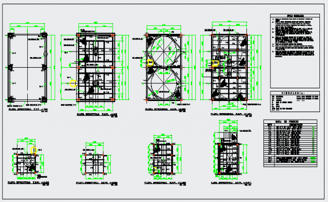 Structure drawing design of Tower for trash design