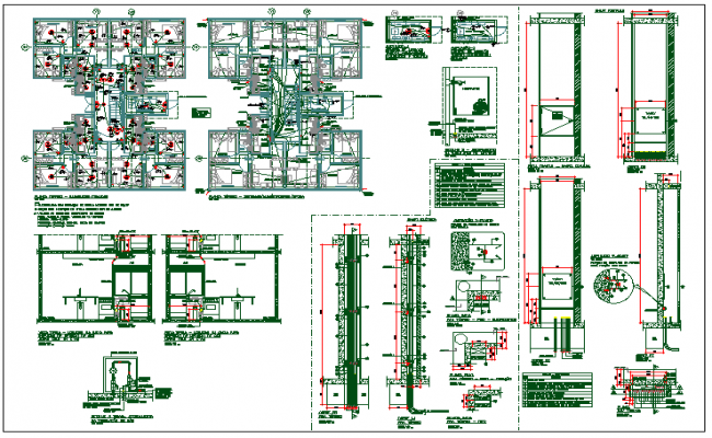 Structure plan detail & section view detail of structural member dwg file