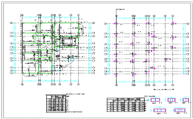 Structure plan dwg file