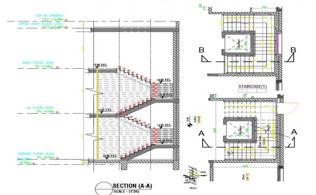 Structure plan for Staircase Plan