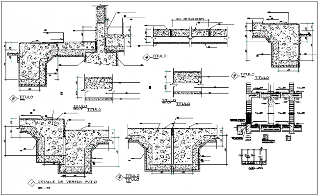 Structure view detail and beam column section plan view dwg file