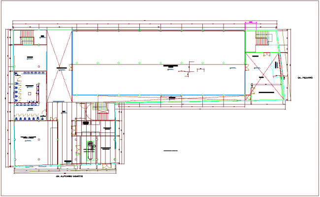 Structure view of plan with dwg file