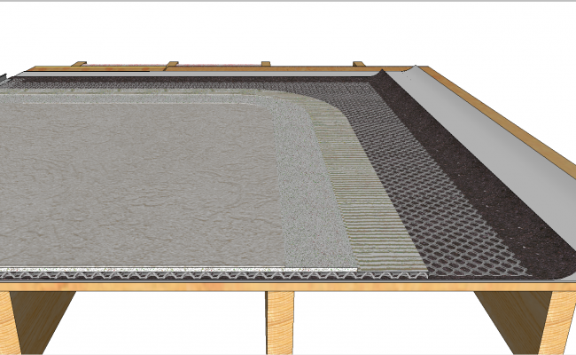 Stucco assembly cad detail and detail
