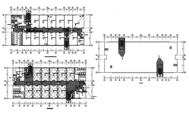 Student Hostel Building Plan DWG File