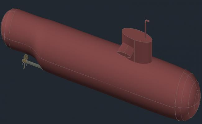 Submarine Design 3d model