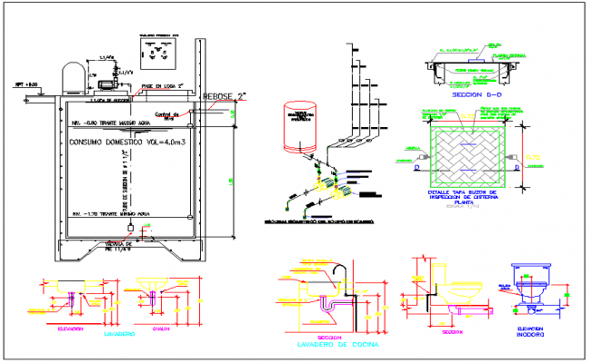 Detail Septic Tank Plan And Elevation Dwg File – Fondos de Pantalla