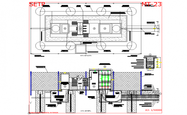 Substation pedestal type 1000kva autocad file