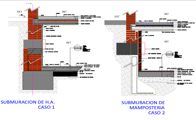 Subtraction section detail dwg file