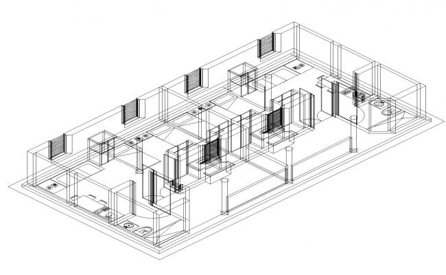 Suit for hotels plan detail dwg file.