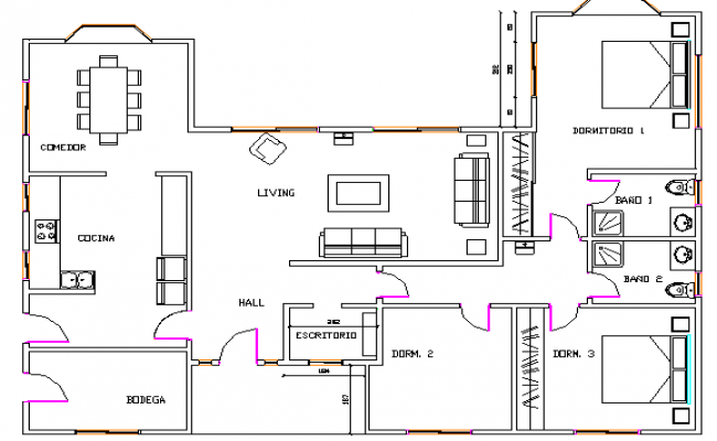 Summer House Architecture Layout and Structure Details dwg file