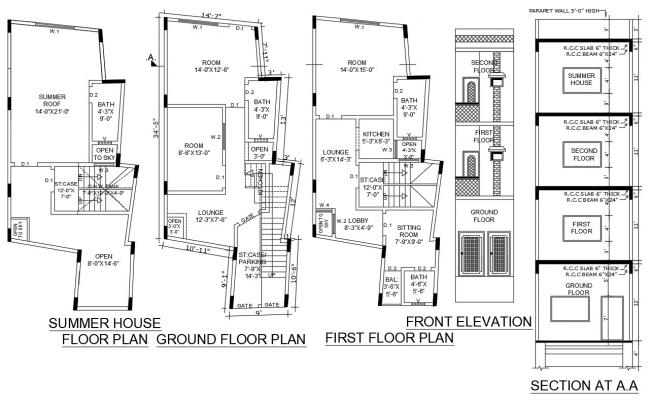 Summer House Plan AutoCAD File
