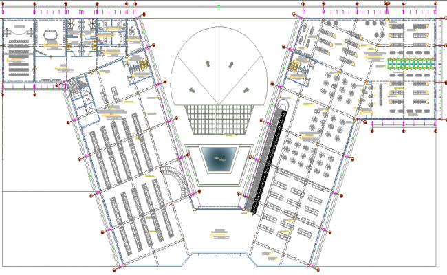 Super market architecture layout plan details dwg file