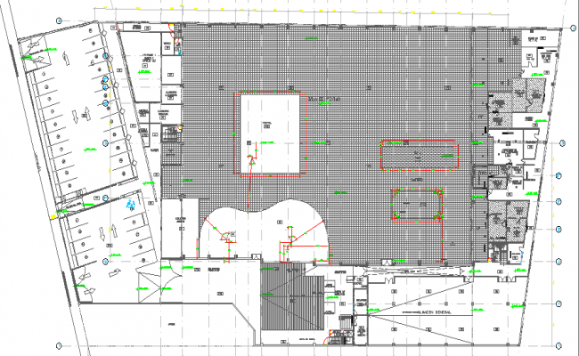 Super market architecture layout plan details dwg file