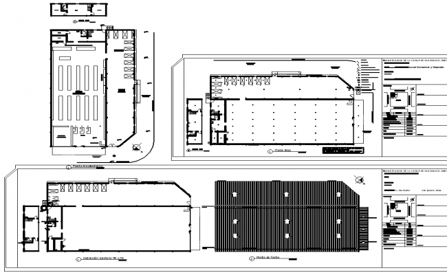Super market plan and elevation layout file