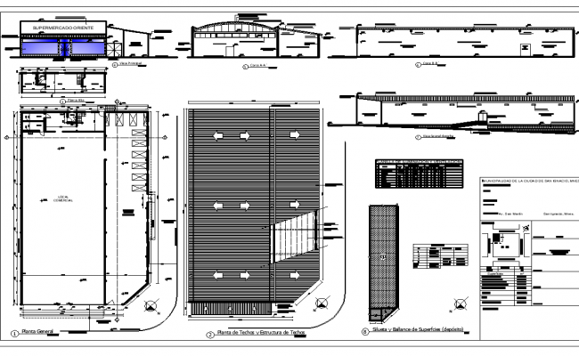 Super market plan autocad file