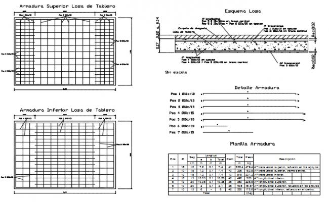 Super slab of board detail dwg file