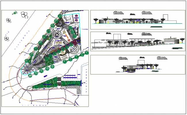 Surveying data and site plan layout view detail with dimensions detail dwg file