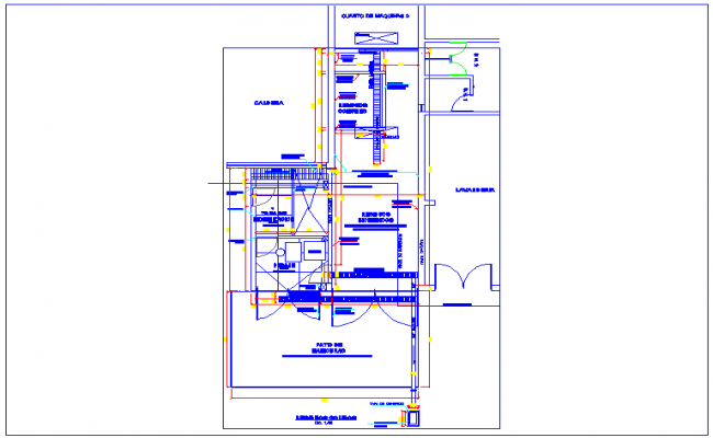 System for solid waste management view for hospital dwg file