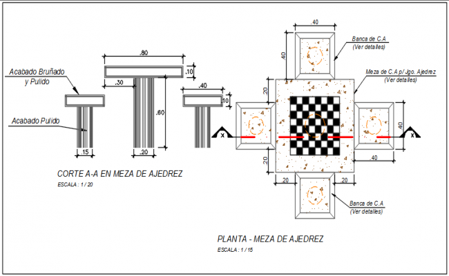 T beam plan and elevation detail dwg file