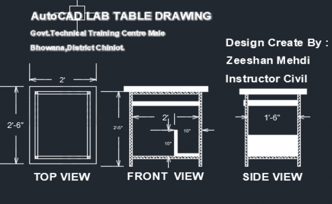 TABLE COMPUTER LAB