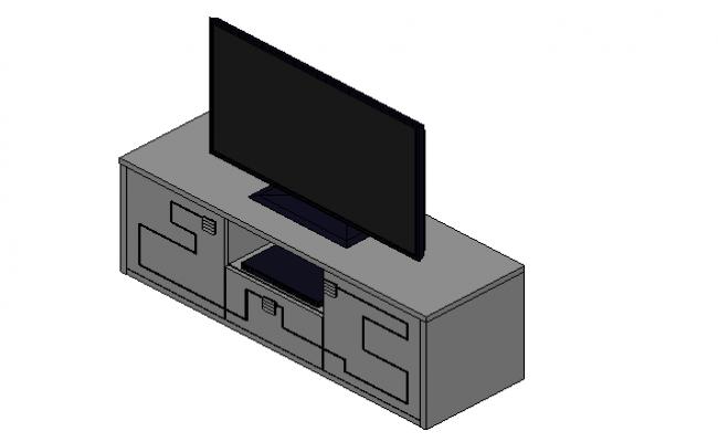 TV unit 3d design dwg file