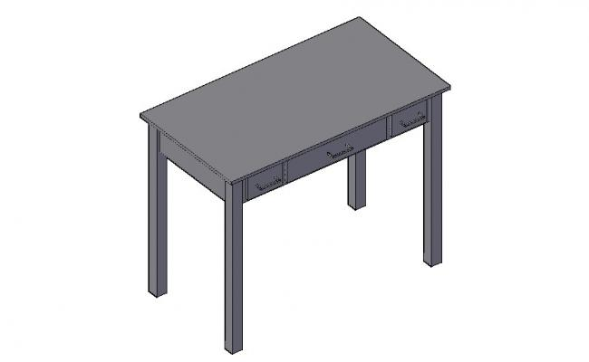 Table Furniture Blocks 3d model CAD Drawing