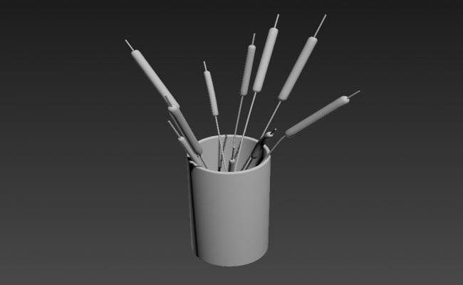 Table Pen Stand 3D MAX File Free Download