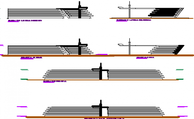 Table elevation and sectional details