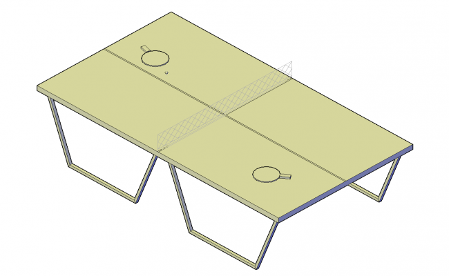 Table tennis table plan detail dwg file.