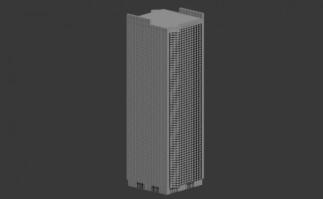 Tall Commerce Building Design 3d max file