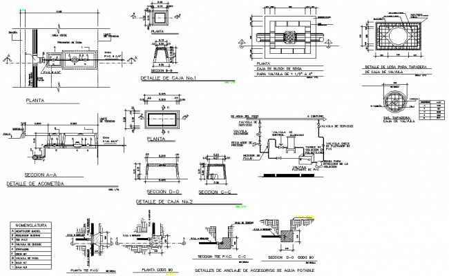 Tank elevation and section dwg file