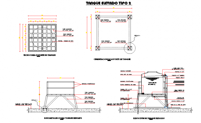 Tank elevation and section layout file