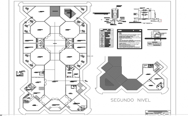 Tank elevation detail dwg file