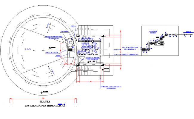 Tank plan 265m3 detail dwg file
