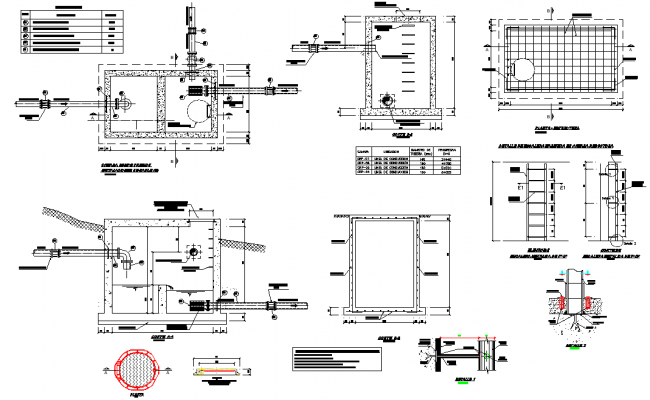 Tank plan and section autoacd file