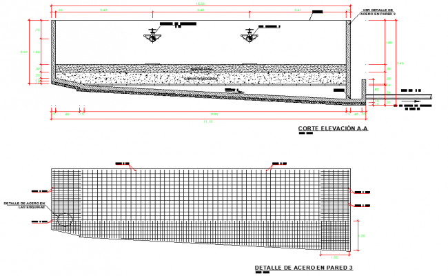 Tank plan and section layout file