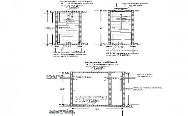 Tank plan detail dwg file