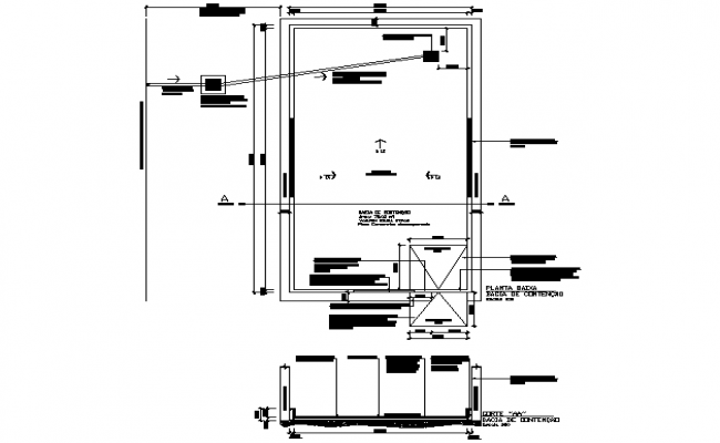 Tank project industrial plant plan and section detail dwg file