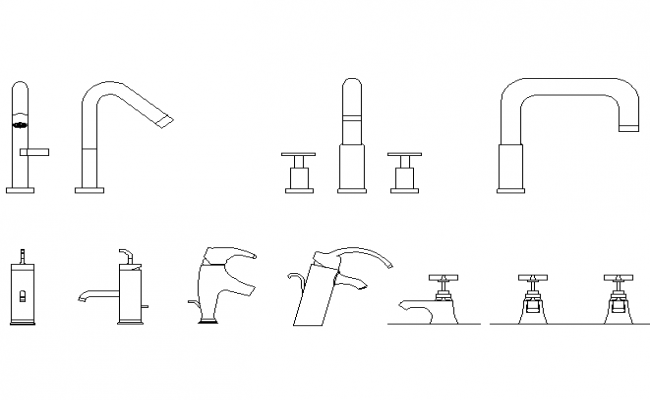 Download Free Bathroom Taps In DWG File