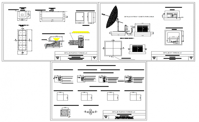 Telephony systems detail drawing in autocad 2d drawing