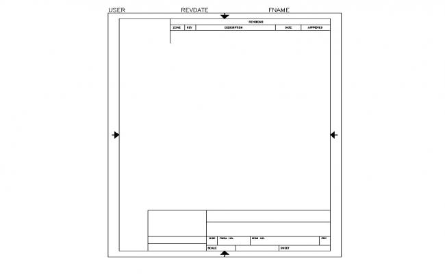 Template sheet detail CAD block layout file in dwg format
