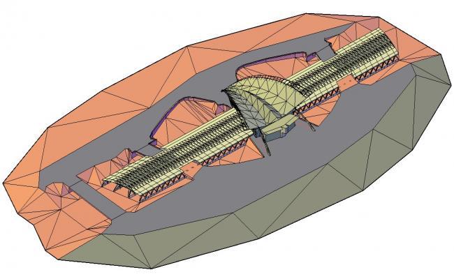 Terminal Building 3d Model