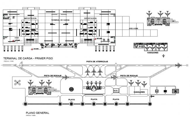 Terminal Building Airport CAD Design