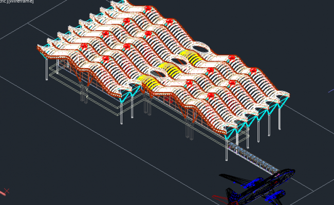 Terminal t4 at madrid airport--roof cover schematic