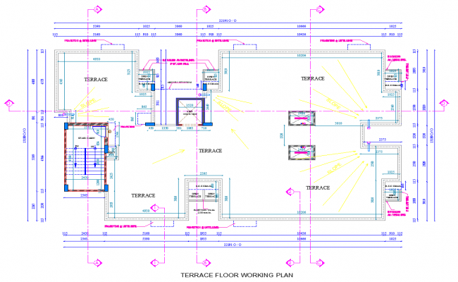 Terrace Floor working plan