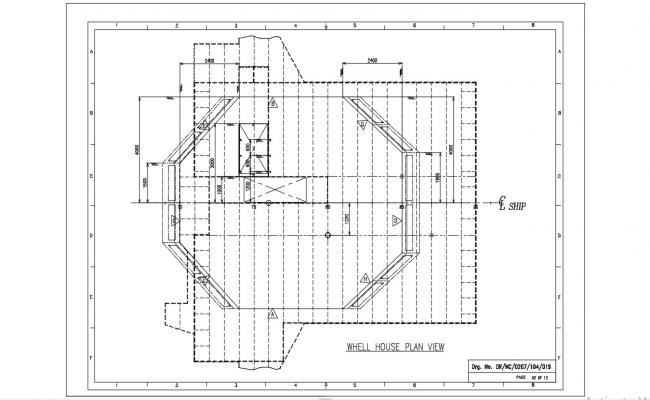 Terrace Plan With Isometric View Of Parapet Auto CAD File Free