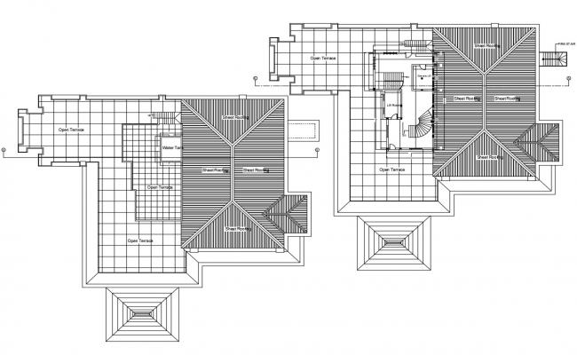 Terrace Roof Design Top View
