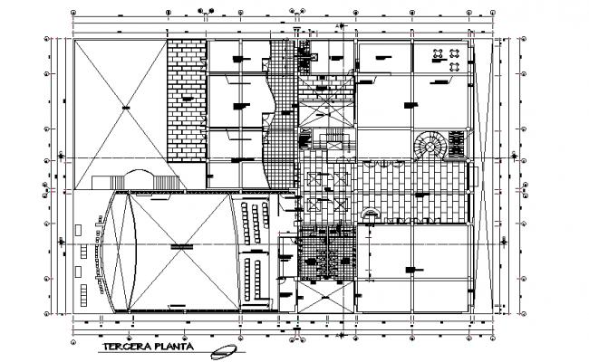 Terrace floor Commercial working plan detail dwg file