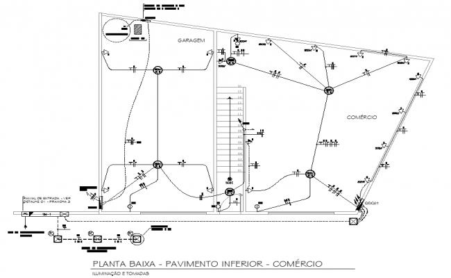 Terrace floor electrical plan layout file